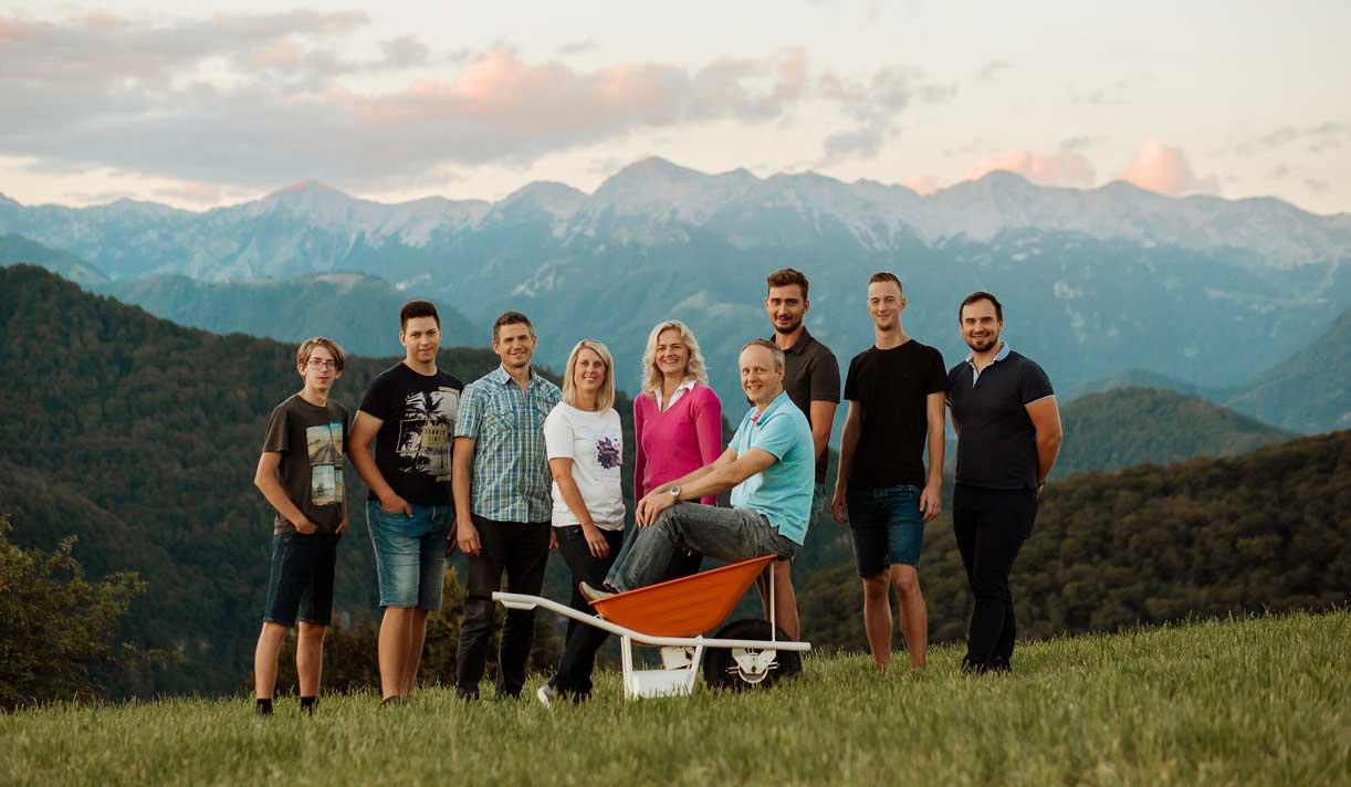 Električna samokolnica - ekipa